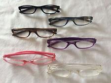 Slim Small Frame Reading Glasses Peer Over Spectacles - Good for Work  B
