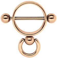 Nippelpiercing Schmuck Brust Schild Ring der O mit Ring Stahl Rose Gold, 14-16mm