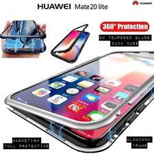 COVER per Huawei Mate 20 Lite in Alluminio ORIGINALE MAGNETICA VETRO TEMPERATO