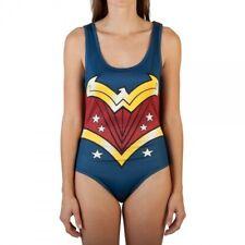 Authentic WONDER WOMAN Bodysuit With Cape Costume S-2XL NEW