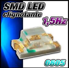 138B# LED CMS 0805 clignotante bleu - dispo 10, 25 ou 100pcs - SMD blue, Blau