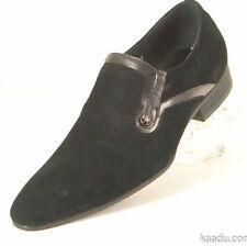 CK1444 Chris Kaadu Men Dress Comfort Shoe Loafer Black Suede