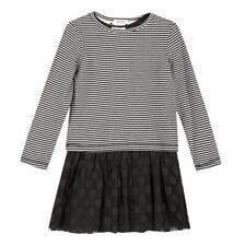 2tlg. Set Kleid + Sweatshirt mit Wendefunktion 3 POMMES Mädchen noir