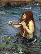 Mermaid sea water girl J. Waterhouse Tile Mural Backsplash Marble Ceramic Art