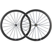1 Pair Carbon Road Wheels Clincher 271 Hub 38mm Carbon Wheelset Race Bike Wheel