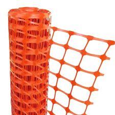 PLASTIC MESH BARRIER SAFETY FENCE Metal Steel Fencing Pins Netting Net Orange 1m