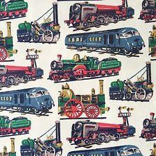 Cath Kidston, Trains, 100% Cotton Duck Fabric per metre