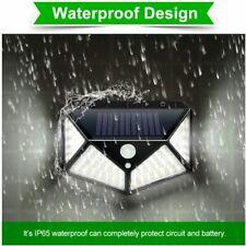 2Pcs LED Solar Power PIR Motion Sensor Wall Lights Outdoor Garden Security Lamp