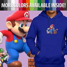 Super Mario Bros Giant Mega Power Up Game Pullover Sweatshirt Hoodie Sweater