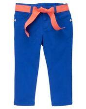 GYMBOREE CHEVRONS & DOTS BLUE RIBBON BELT CAPRI PANTS 5 6 7 10 NWT
