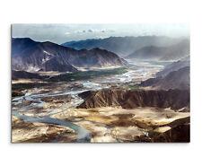 Wandbild Landschaftsfotografie Tibetische Berglandschaft auf Leinwand