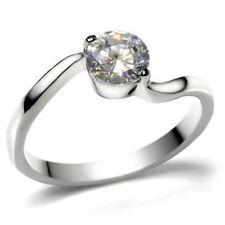 K023 Solitario Fidanzamento Diamante simulato 316L in acciaio ad alta lucidato Anello da donna