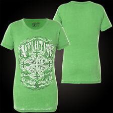AFFLICTION Damen T-Shirt Irish Luck Grün
