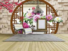 Papel Pintado Mural De Vellón Mariposa Peonías Porche 34 Paisaje Fondo Pantalla