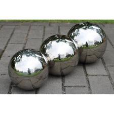 Garden Stainless Steel Gazing Balls Metal Ball Globes Floating Pond Decor