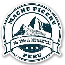 2 x Machu Picchu Peru Vinyl Sticker Laptop Travel Luggage #4328