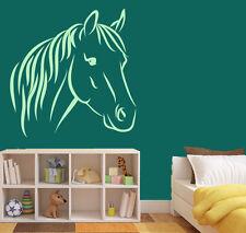 Aufkleber Wandtattoo Pferd Mädchen Pferdekopf  Kinderzimmmer w135