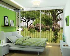 3D Elephant 98 Blockout Photo Curtain Printing Curtains Drapes Fabric Window CA