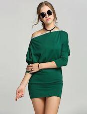 vestito abito manica lunga donna verde elegante evento party festa 3227