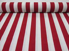 rosso bianco a righe Tessuto - Sofia strisce tenda FODERA materiale -140 cm