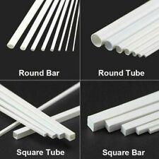 Dia 1-6mm ABS Plastic Round Rod Bar DIY 250mm Model Scenery Build CA 5PCS