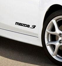 MAZDA 3 Mazdaspeed Hatchback Racing Decal sticker emblem logo Black (PAIR)
