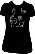 MUSIC NOTE RHINESTONE BLING SHIRT
