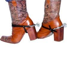 Cowboy Fancy Dress Boot Spurs Pk of 2 Western Wild West New by Smiffys
