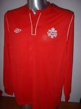 Canada Umbro BNWT Adult S XL Shirt Jersey Soccer Trikot Maglia New L/S Top