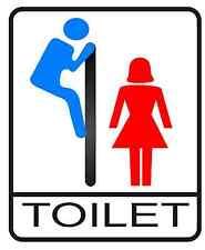 Toilet Bathroom door funny sign decal sticker - Single or MULTI Color!