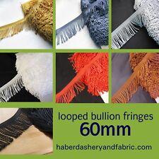 Fringe Tassel Looped Trim Bullion Fringing DRESS FRINGING 60 mm Tassels dance