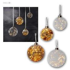 Weihnachtskugel aus Glas 15/40 LED Christbaumschmuck Ø 11/15cm Dekokugel Kogel