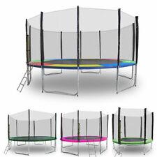 Trampolin 2,50m - 4,90m Gartentrampolin mit Randabdeckung verschiedenen Farben