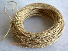 Organic Natural Handmade Braid Jute Burlap Rope Cord String Rustic Wristband