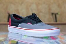 Vans Era Tri-Tone Shoes - Charcoal/Black/Red