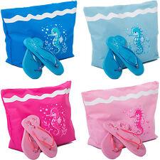 Womens Beach Bag + Sandals Set Large Tote Summer Bag Ladies Sandals Bundle