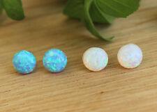 Hot Sell blue fire opal Women Jewelry Gemstone Silver Boucles d/'oreille 12 mm OH2667