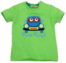 BONDI Jungen Baby T-Shirt Kurzarm AUTO in grün Gr. 62 68 74 80 86 92 98 104
