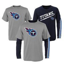 "Tennessee Titans NFL Toddler Grey/Navy ""Squad"" Long/Short Sleeve Shirt Set"