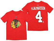 Nhl Boys Youth Chicago Blackhawks Niklas Hjalmarsson #4 Short Sleeve Tee, Red