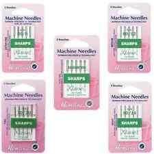 Hemline Sharps Micro Sewing Machine Needles Klasse Woven Synthetics Fabric