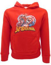 Felpa Spiderman Originale Marvel rossa cappuccio bimbo bimba ufficiale