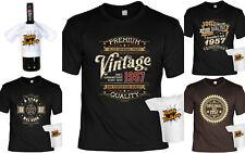 Geschenkset T-Shirt zum 61.Geburtstag + Mini Flaschenshirt - Jahrgang 1957
