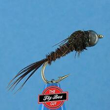 Pheasant Tail TUNGSTEN Bead Head (6) Premium Fishing Flies -Select Sizes***