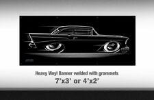 Big Banner 1957 Chevy 57 Chevrolet Bel Air Del Ray 210