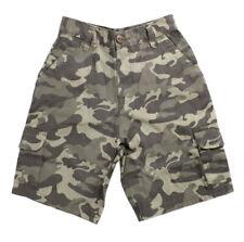 Boys Tom Franks Camo Design Print Summer 100% Cotton Outdoor Cargo Shorts