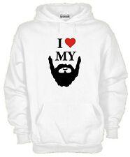 Felpa KJ91J917 I Love My Beard Felpa con Cappuccio Barba Style Cotone