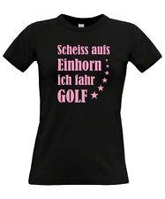 T-Shirt Girl EINHORN ? ICH FAHR GOLF Tuning vw Treffen gti tdi r SATIRE Spruch
