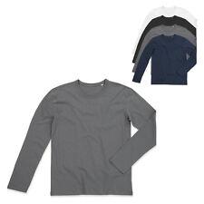 Stedman Herren T-Shirt MORGAN LONG SLEEVE Langarm Rundhals S M L XL Neu ST9040
