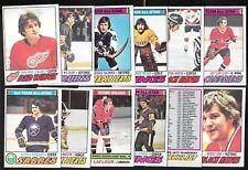 1977-78 OPC O PEE CHEE NHL HOCKEY CARD ERROR VARIATION 265-396 & INSERT SEE LIST